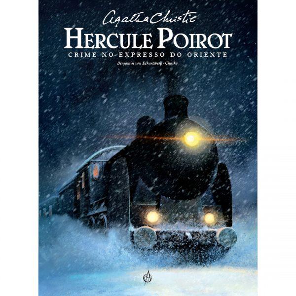 Crime no Expresso do Oriente. Agatha Christie. Hercule Poirot. Capa_quad
